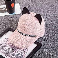 Стильна Вовняна шапка жіноча. Women's knitted woolen hat