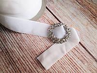 Лента бархатная, 2 см, цвет белый, 1 м.