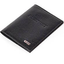 Шкіряна обкладинка на паспорт чорна Butun 147-004-001