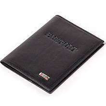 Шкіряна обкладинка на паспорт чорна Butun 147-024-001