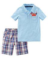 Детский летний костюм - шорты и футболка Картерс для мальчика