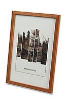 Фоторамка из дерева Сосна 1,5 см. (средне-коричневая) - для грамот, дипломов, сертификатов, фото!, фото 1
