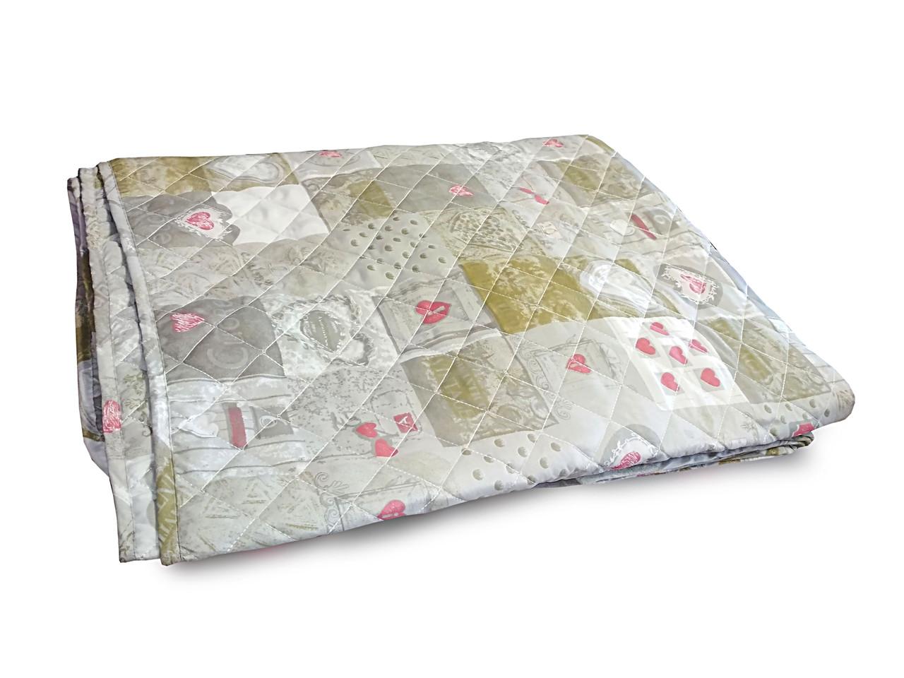 Одеяло-покрывало стеганное полиэстер 140x205см Leleka-Textile, 1086
