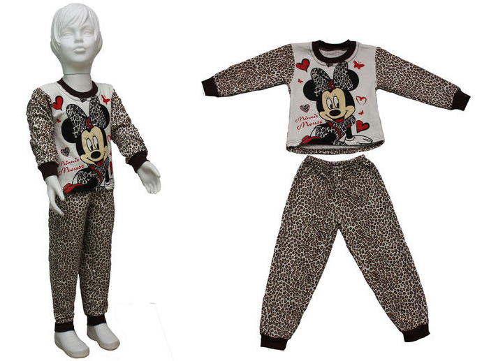 Пижама для девочки на байке, котон 100%, Украина, Детки- текс, рр. 86-92 арт. 0303,
