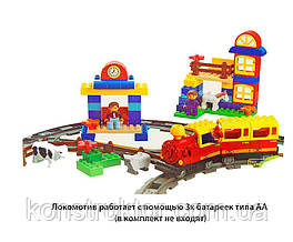 Конструктор JIXIN 6188B Железная дорога, 95 деталей