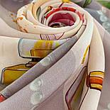 10128-2, павлопосадский шийну хустку (крепдешин) шовковий з подрубкой, фото 4