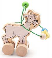 Лабиринт-каталка Козел, Мир деревянных игрушек (Д360)