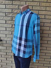 Рубашка мужская коттоновая брендовая высокого качества реплика BURBERRY, Турция, фото 3