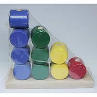 Деревянная Логическая игрушка Цилиндры Бамсик  И033