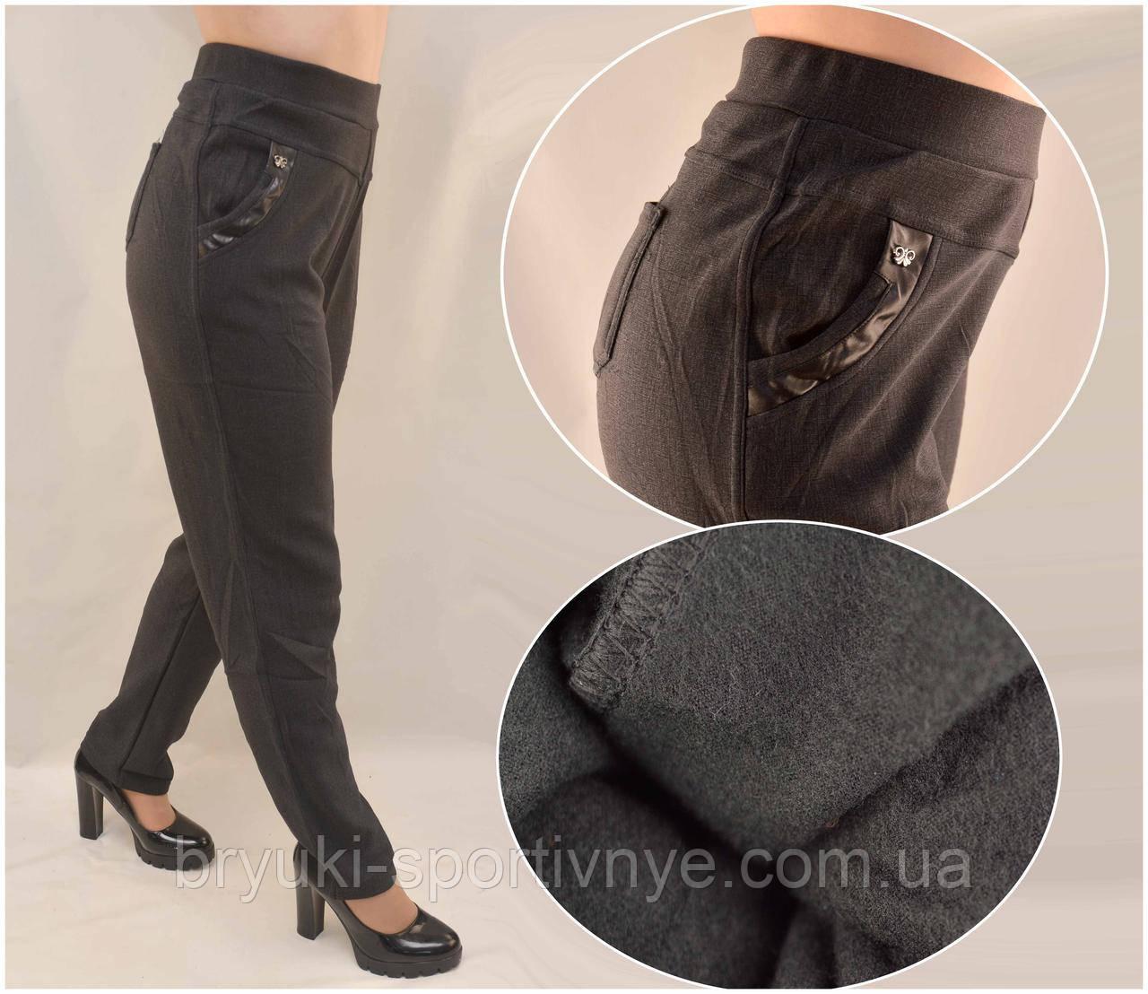 Штани жіночі на флісовій підкладці у великих розмірах 5XL - 7XL
