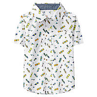 Детская белая рубашка с коротким рукавом (тенниска) в Скейты Crazy8 для мальчика