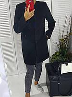 Женское  черное пальто прямого кроя  46-48