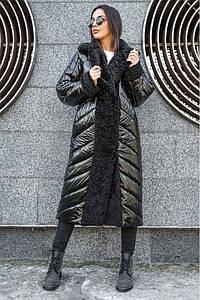 Зимнее пальто пуховик без капюшона Венеция 44-48 р разных цветов