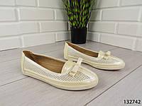 """Балетки, мокасины белые """"Ritta"""" эко кожа, легкая, повседневная, удобная женская обувь"""