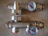 Сгоны для циркуляционного насоса с термометрами(нижнее подключение), фото 2