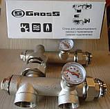 Сгоны для циркуляционного насоса с термометрами(нижнее подключение), фото 5