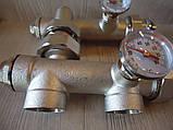 Сгоны для циркуляционного насоса с термометрами(нижнее подключение), фото 6