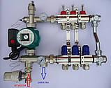 Сгоны для циркуляционного насоса с термометрами(нижнее подключение), фото 7