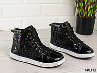 """Ботинки женские, ботильоны, черные """"Osmo"""" эко кожа, удобная, повседневная женская обувь"""