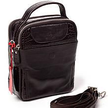 Мужская сумка барсетка кожаная коричневая Eminsa 6002-4-3