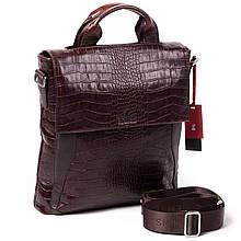 Чоловіча сумка Eminsa 6019-4-3 коричнева шкіряна