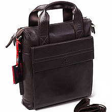 Чоловіча сумка Eminsa 6038-12-3 коричнева шкіряна