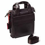 Мужская сумка Eminsa 6038-12-3 кожаная коричневая, фото 2