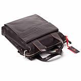 Мужская сумка Eminsa 6038-12-3 кожаная коричневая, фото 5