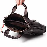 Мужская сумка Eminsa 6038-12-3 кожаная коричневая, фото 7
