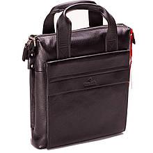Чоловіча сумка шкіряна чорна Eminsa 6038-12-1