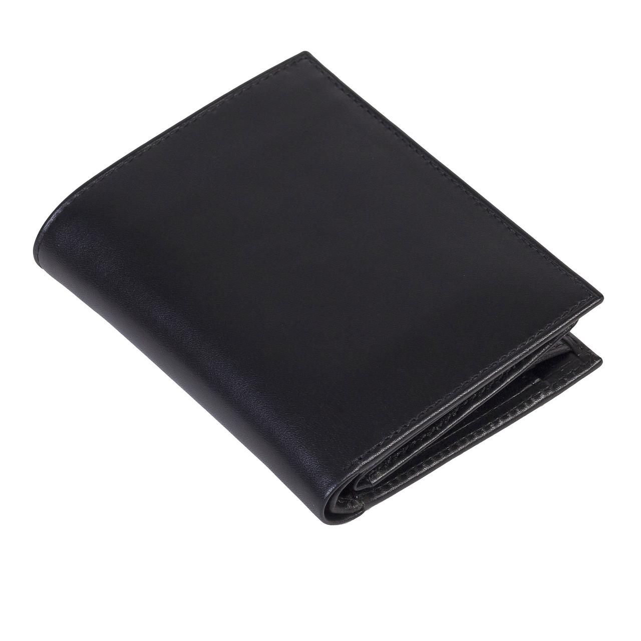 Мужское портмоне Eminsa 1023-1-1 кожаное черное