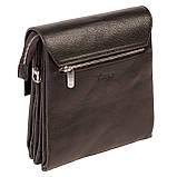 Мужская сумка Karya 0542-45 кожаная черная с плечевым ремнем, фото 2