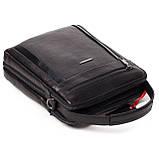 Мужская сумка кожаная черная Eminsa 6135-37-1, фото 6