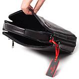 Мужская сумка кожаная черная Eminsa 6135-37-1, фото 7