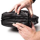 Мужская сумка кожаная черная Eminsa 6135-37-1, фото 9