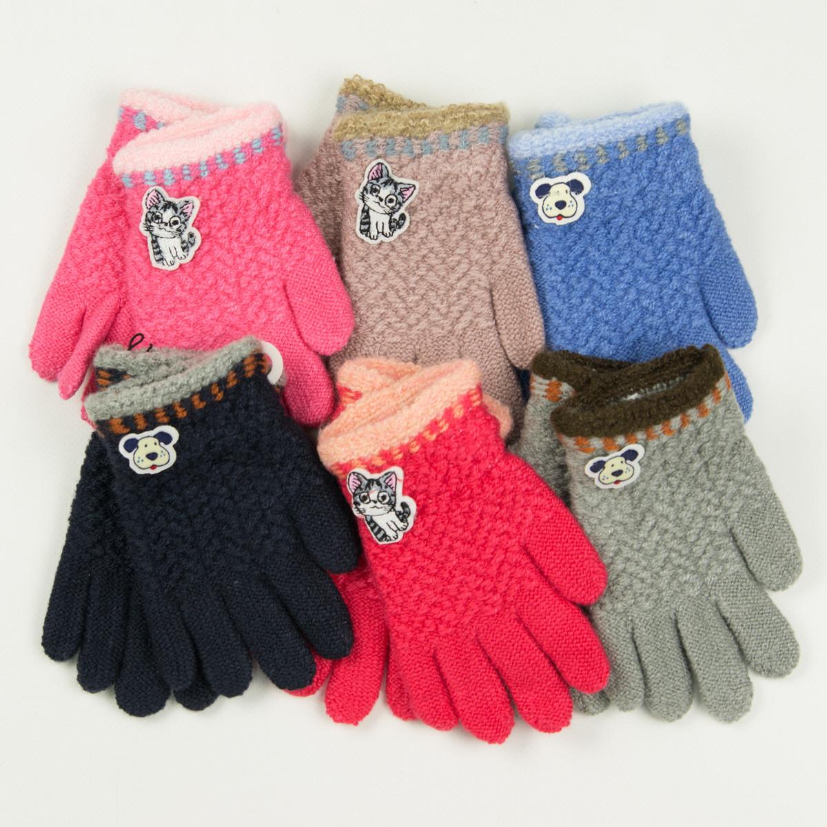 Оптом перчатки для мальчиков и девочек 2-3 года - 19-7-43