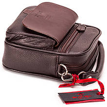 Чоловіча сумка шкіряна барсетка коричнева Eminsa 6053-18-3
