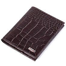 Шкіряна обкладинка на паспорт коричнева Butun 147-002-004