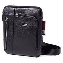 Мужская сумка кожаная чёрная BUTUN 3101-004-001