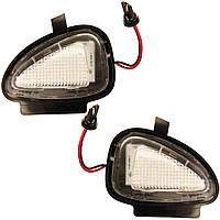 Штатная LED подсветка зеркал Volkswagen Golf 6,Jetta 6,Passat, фото 1