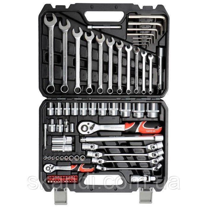 Набор инструментов с ключами для ремонта авто Yato YT-38781