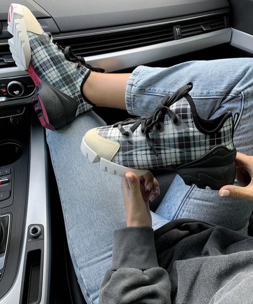 Женские кроссовки Dior D-Connect Sneaker Black/Baige