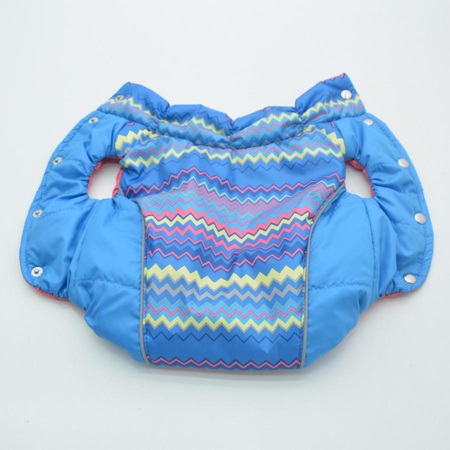 Жилет для собак Орнамент синий №0 25х40 см