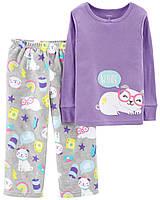 Пижама Детская Carters Трикотаж Флисовая 98 см Сиреневая CKT31341