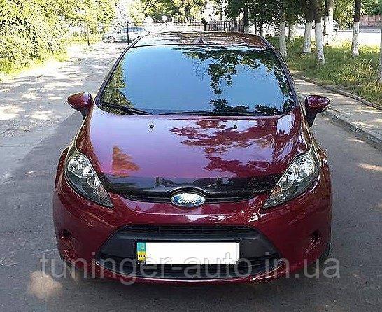 Мухобойка, дефлектор капота Ford Fiesta 2008-2013 (Sim)