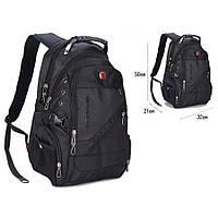 Рюкзак SwissGear Wenger с USB и дождевиком Черный (28658-nri)