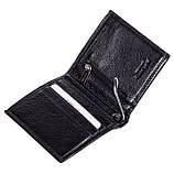 Зажим для денег кожаный черный Karya 0940-45, фото 3