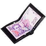 Зажим для денег кожаный черный Karya 0940-45, фото 6