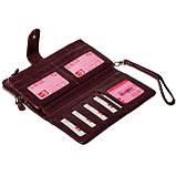 Женский клатч кожаный бордовый BUTUN 022-004-002, фото 6