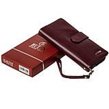 Женский клатч кожаный бордовый BUTUN 022-004-002, фото 8